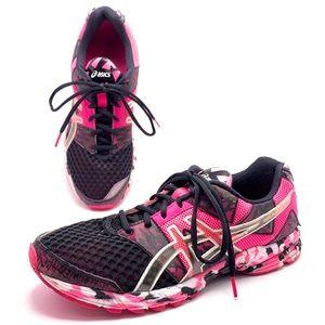 Asics Shoes - Asics Noosa Tri 8 T306Q Black Pink Running Shoes